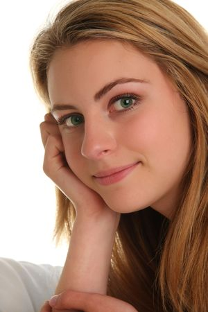 Beautiful teenage blond girl.  Stock Photo - 7079518