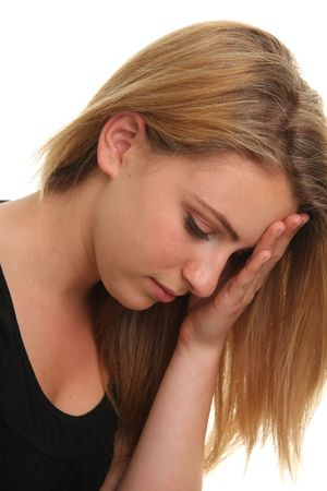 Unhappy teenage girl. Stock Photo - 7079519