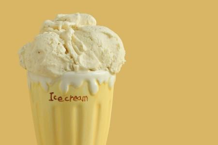 Old fashioned vanilla ice cream.  photo