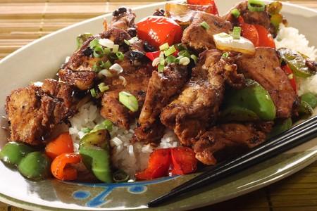 arroz chino: Asia costillas de jengibre y arroz.