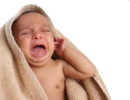 Crying newborn baby.