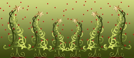 Contemporary Christmas trees Stock Photo - 8101700