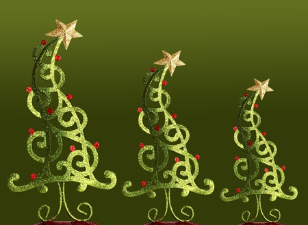 crooked: Contemporary Christmas trees