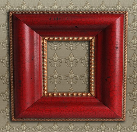 advertise: Square antique picture frame.
