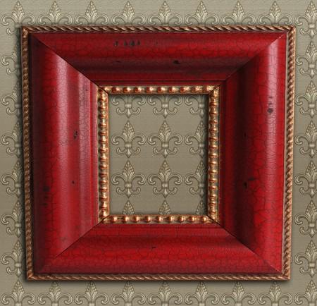 Square antique picture frame. Stock Photo - 8101706