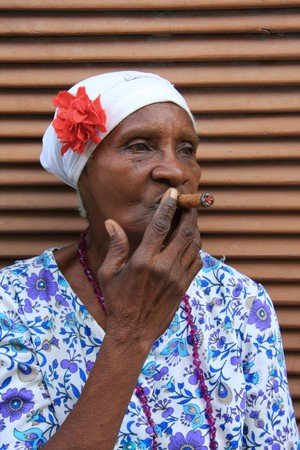 Cigar lady, Havana Cuba photo
