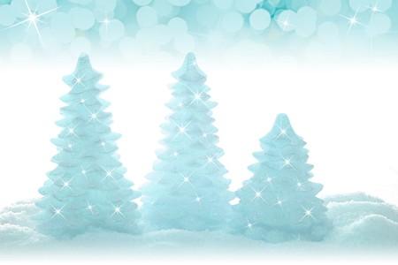 Blue sparkling Christmas tree ornaments.  Banco de Imagens