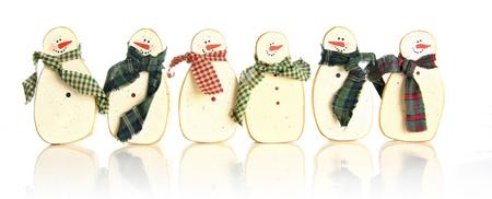 snowman wood: Vintage wooden Christmas snowman.  Stock Photo