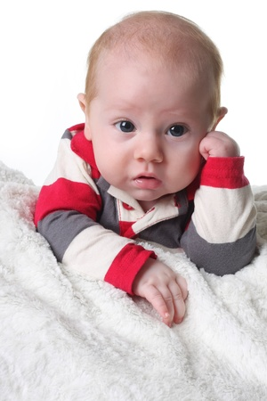 Cute baby boy with funny expression Stock Photo - 8483788
