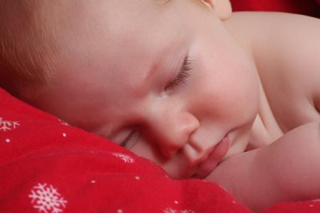 Sleeping baby boy.