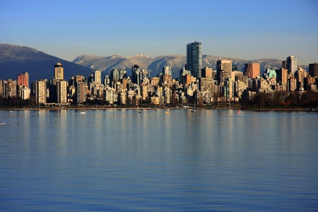 inlet bay: Beautiful Vancouver on Dec 31 2010.  Stock Photo