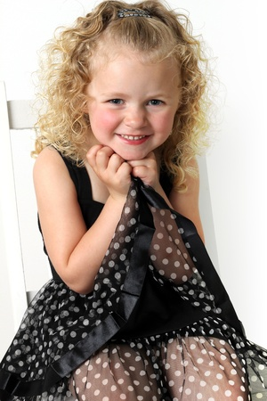 curls: Beautiful little girl, four years old.