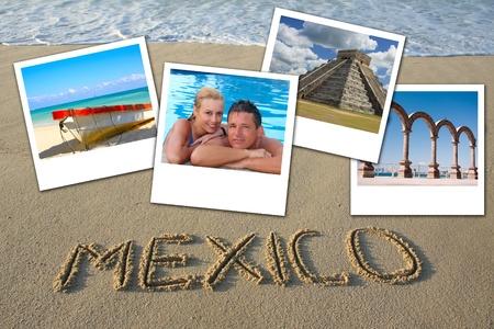 honeymooners: Mexico collage.