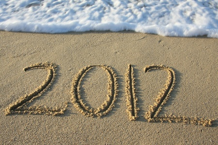 2012 written in the sand photo