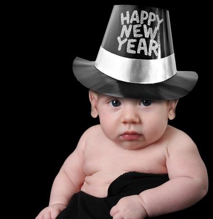 hat new year happy new year festive: Happy new year baby