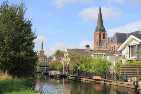 Nederlandse landschap in de buurt van Weesp Stockfoto