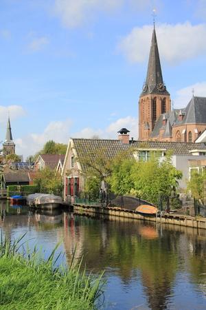dutch: Dutch landscape near Weesp Stock Photo