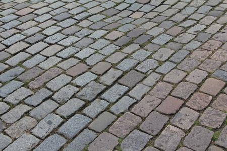 cobble: Vecchia strada di ciottoli nei Paesi Bassi.