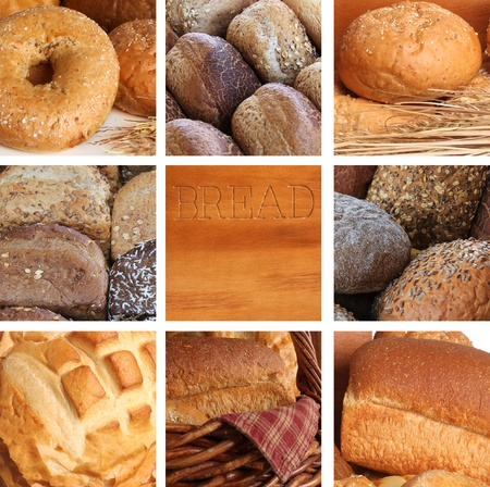 composite: Composite of a variety of freshly baked bread.