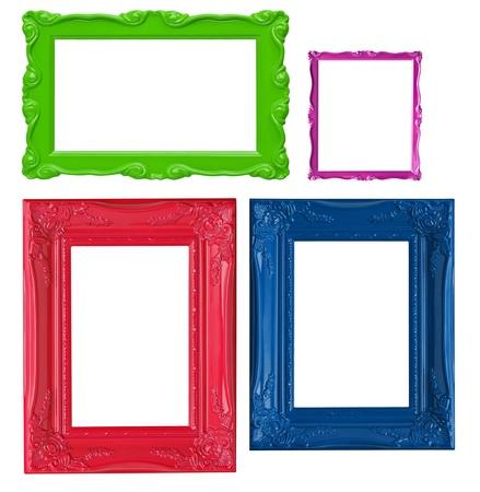 foto: Vier hedendaagse afbeeldingsframes in hoge resolutie levendige kleuren.  Stockfoto