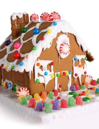 casita de dulces: Casa de pan de jengibre de Navidad