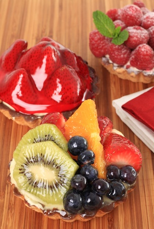 Fresh fruit pie tarts on display. Stock Photo - 11227038