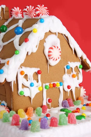gingerbread: Home Christmas gingerbread house. Stock Photo