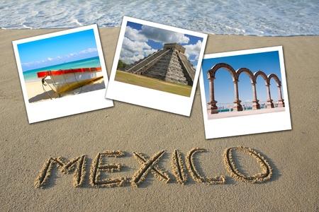 cancun: Mexico beach collage