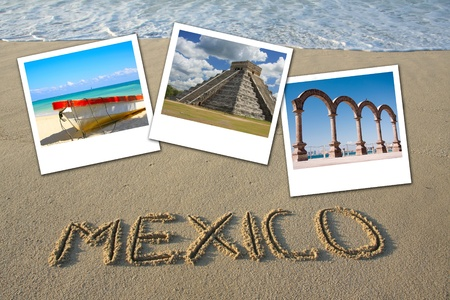 Mexico beach collage photo