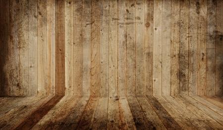 el cedro: Cedro piso de madera y la pared. A�adir tus propios objetos. Foto de archivo
