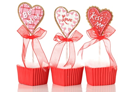 kiss biscuits: Valentines day lollipop cookies.