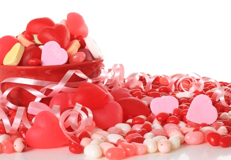 Valentine candy studio isolated on white.  photo