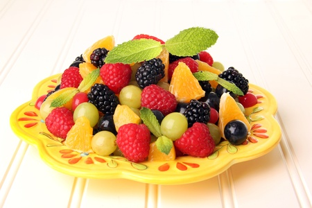Colorful summer fruit salad  photo