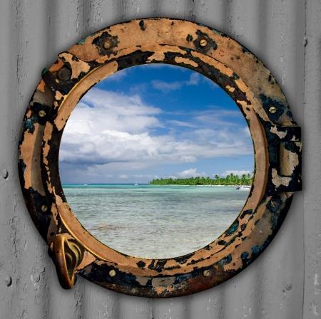 opening window: Puerto agujero con una vista