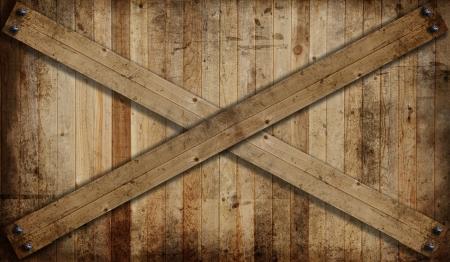 do not enter: Weathered cedar background panel