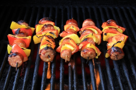 Barbecue shishkabobs on the grill