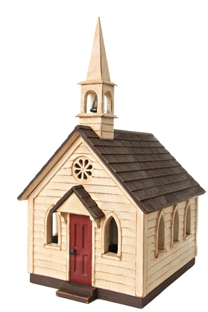 christian community: Model chapel, isolated on white