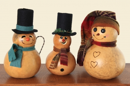 Vintage Christmas snowmen   Stock Photo - 16295531