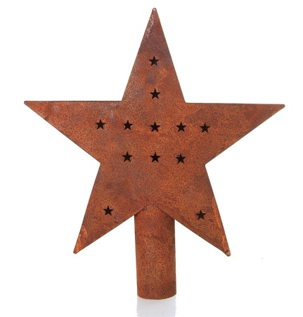 Antique Christmas star isolated on white  photo