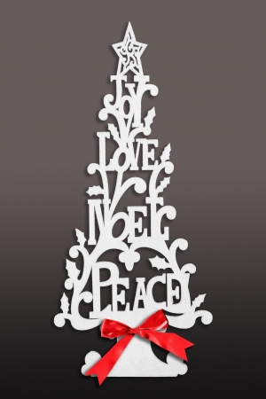 Contemporary Christmas tree card Stock Photo - 16295536