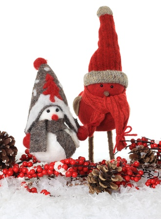 Christmas winter bird ornaments Stock Photo - 16295538