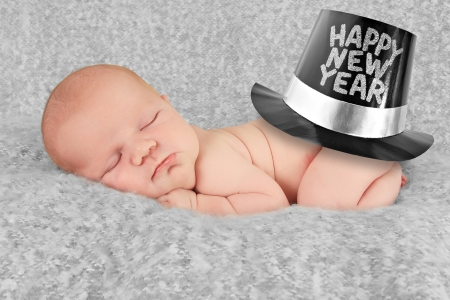 Happy New year baby boy Stock Photo - 16410848