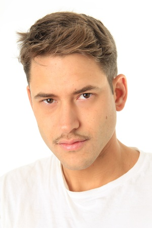 Handsome young man with a mustache Stock Photo - 16587323