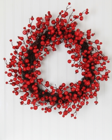Christmas wreath of holly berries Stock Photo - 16587324