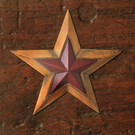 Authentic antique wooden Christmas star  photo