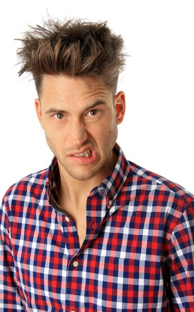 Attractive man making a funny face  Stock Photo - 17283497