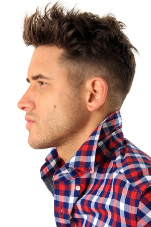 Profile of an attractive man