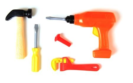Plastic set of toy tools Stock Photo - 17959957