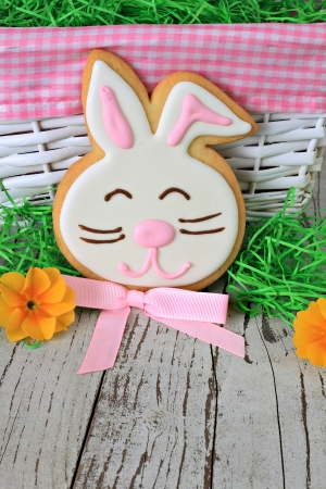 Easter bunny cookie  photo