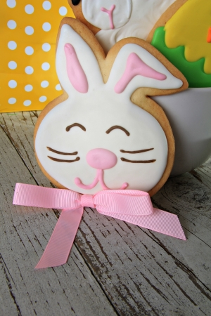 easter cookie: Easter bunny cookie Stock Photo
